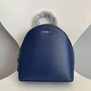 DKNY Leather Navy Mini Backpack